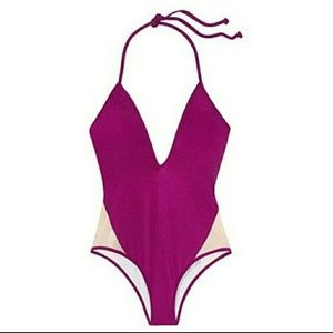New VS Pink One Piece Swimsuit Beach 1 S M L